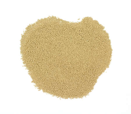 Wine yeast for making home made wine on a white background.