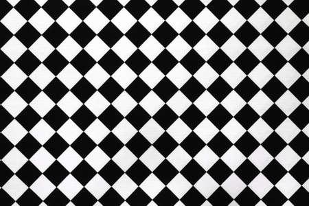 tela algodon: Pa�o de algod�n de patr�n de tablero de ajedrez de blanco y negro.
