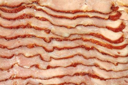 turkey bacon: Una vista molto vicino tacchino a fette di pancetta.