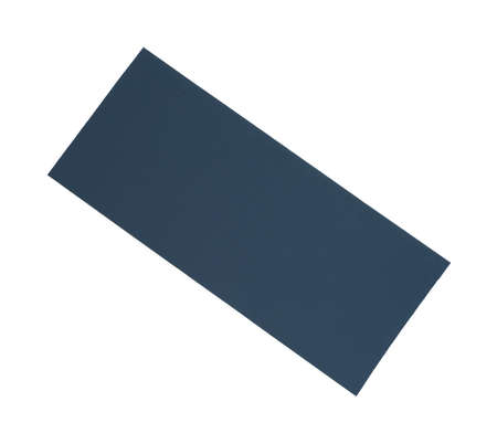 white backing: A blue cloth pressure patch for repairing fabric holes and tears on a white background.