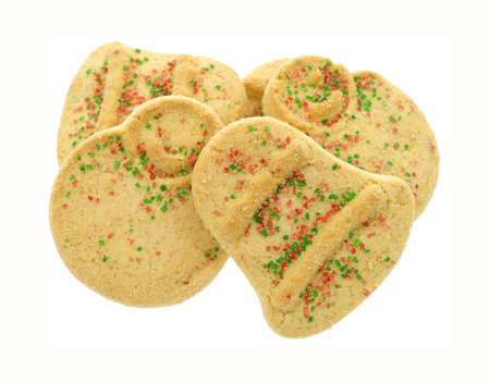 Several Christmas cookies on a white background. photo