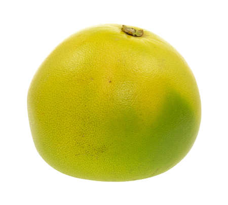 pummelo: A ripe pummelo fruit isolated on a white background.