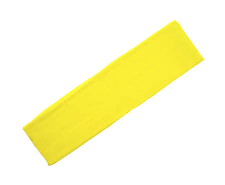 malleable: A single block of yellow modeling clay on a white background