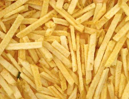 shoestring: A very close view of shoestring potatoes  Stock Photo
