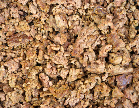 browned: A very close view of browned ground beef