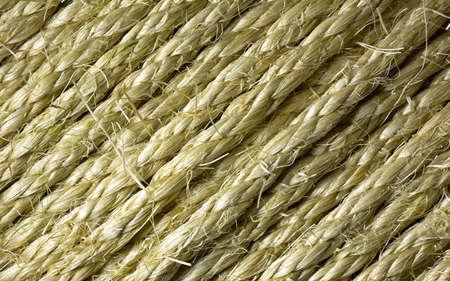 acute angle: Cerrar la vista de varias hileras de cuerda de sisal en un �ngulo agudo