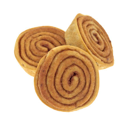 Three cinnamon buns on a white background Stock Photo - 17094072