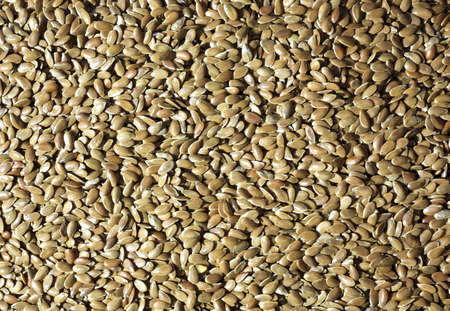 flaxseed: Close view of raw flaxseed with shadows highlighted