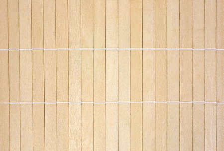 A background of wood slats that have been joined together with thread  Banco de Imagens