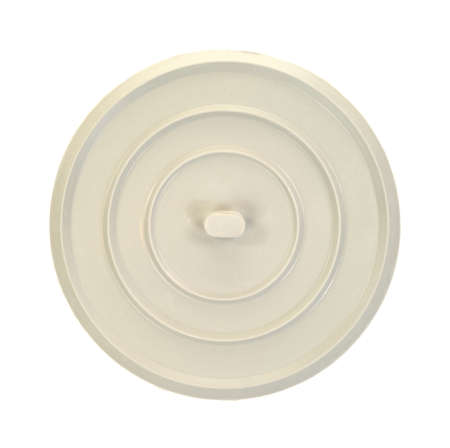 Top view of a rubber sink used to hold water in a basin on a white background. photo