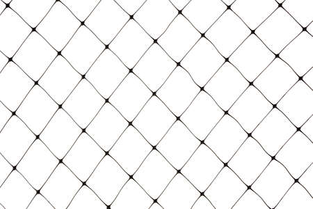 New protective bird netting against a white background. Stock Photo