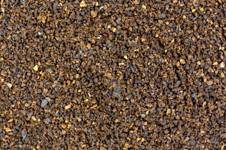 decaffeinated: A very close view of decaffeinated coffee granules.