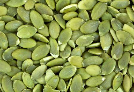 Una visión muy estrecha de pepitas verdes. Foto de archivo
