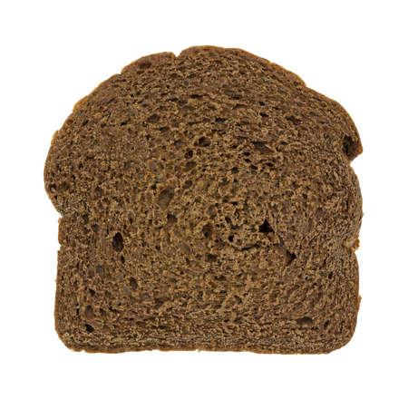 A single slice of freshly baked pumpernickel bread