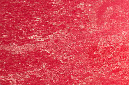 A very dirty exterior of a red car  Stock Photo