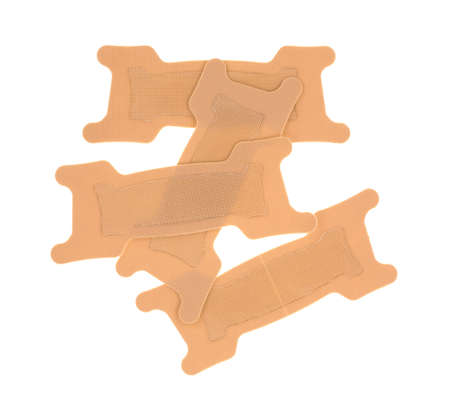 bendable: A group of nasal strips for improved breathing on a white background.