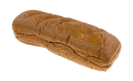 multi grain sandwich: A freshly baked whole wheat sub roll on a white background.