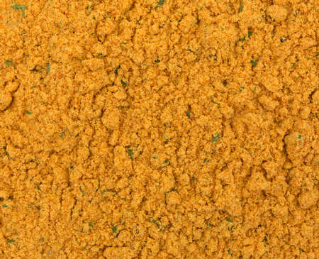 marinade: A very close view of dry mesquite marinade ingredients. Stock Photo