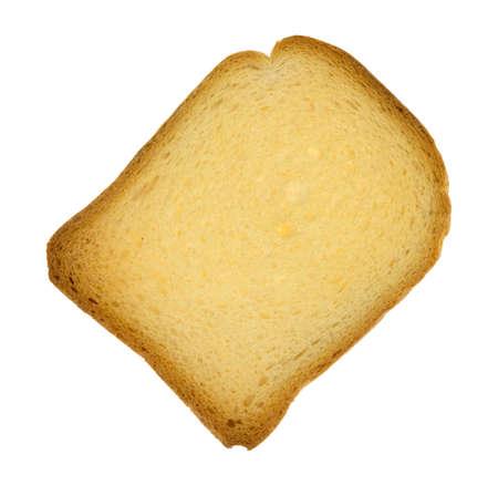 Vue de dessus d'une biscotte croustillante isolée sur fond blanc. Banque d'images - 50735256