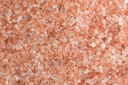 iron oxide: A very close view of Himalayan pink salt.