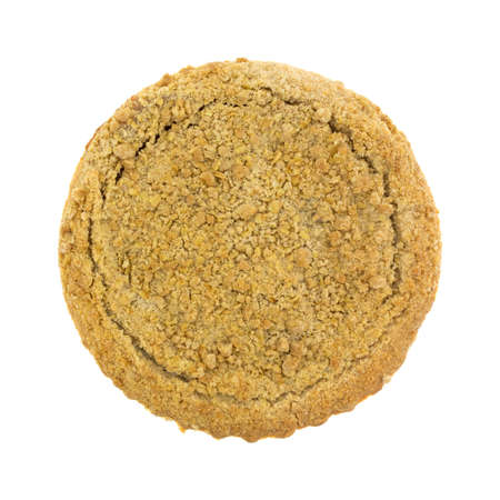 scrumptious: Top view of a Dutch apple pie isolated on a white background.