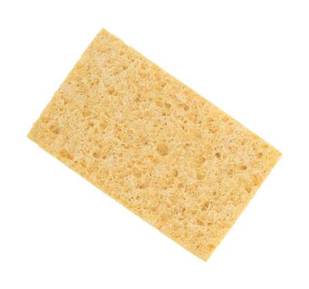 celulosa: Una nueva esponja de celulosa aislado en un fondo blanco.