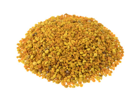 bee pollen: Organic bee pollen granules isolated on a white background.