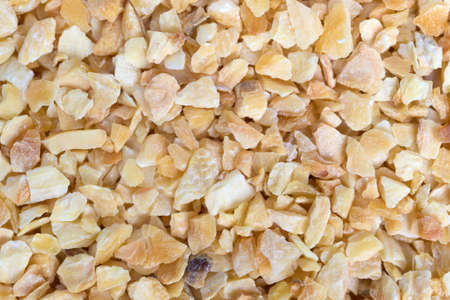 A very close view of dried minced garlic.