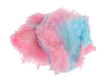핑크색과 파란색 솜 사탕 흰색 배경에 고립.