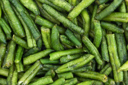 A very close view of dried and salted green beans. Reklamní fotografie