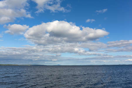Large clouds above Penobscot Bay in Maine on a summer day. Reklamní fotografie