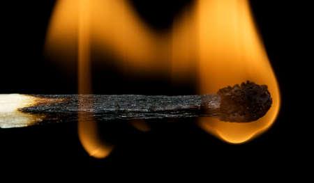 Match burning showing detail of wood Stock Photo - 3159055