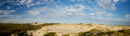 Panoramic of Sand Dunes in the Coorong, Australia photo
