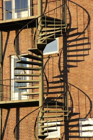 Iron staircase outside a building photo