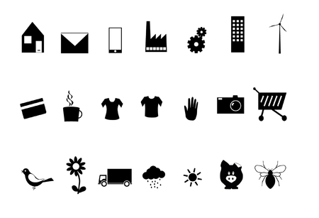 dingbats: Various symbols in black and white