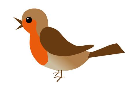 Een illustratie van een roodborstje