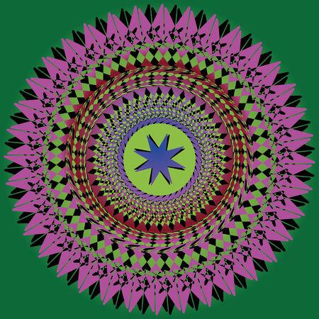 spirograph: A spirograph spiral