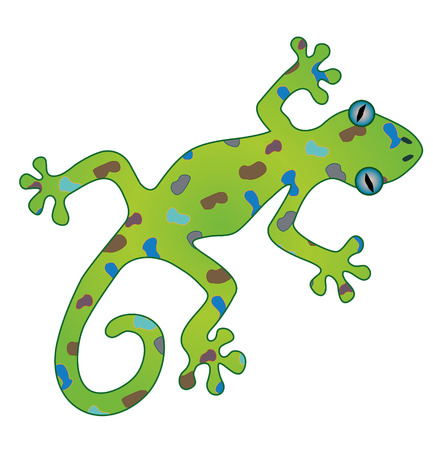An illustration of a gecko
