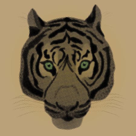 A raster illustration of a tiger Ilustrace
