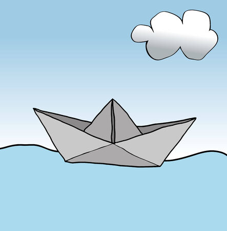 vulnerable: Paper boat Illustration