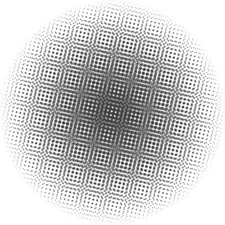 pixelate: Optical dots radial gradient Illustration