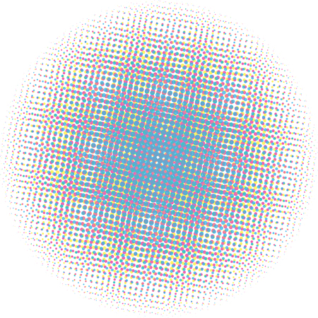 rasterized: Optical dots radial gradient Illustration