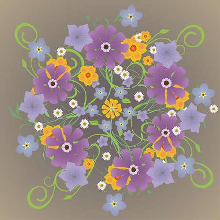 A mandela of flowers