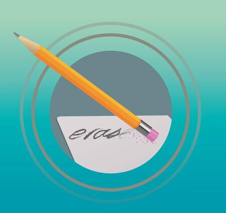 wipe: pencil eraser