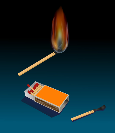 matchbox: Match and matchbox Illustration