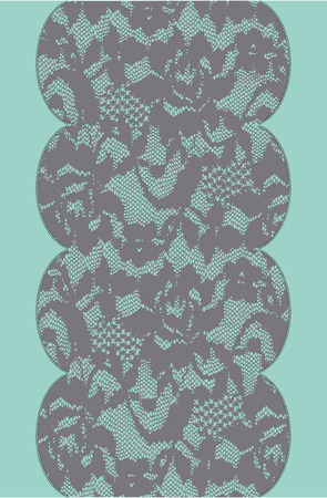 Green and gray lace pattern