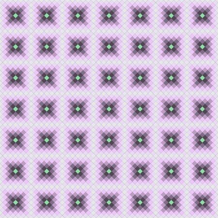 lozenge: Seamless tile pattern with squares in purple colors Illustration