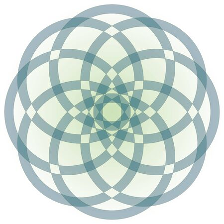 intersect: Abstract circle flower