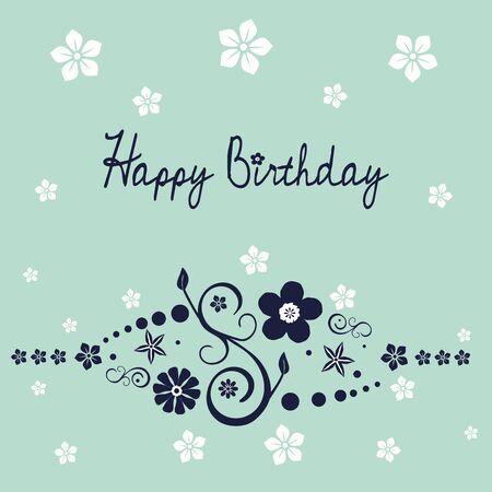 Floral birthday wish