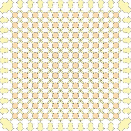 yellow line: Abstract yellow line art tile Illustration